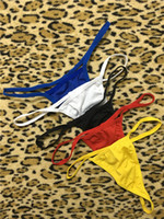 Wholesale Sexy Waistline - Free Shipping Sexy G-string G V String Thong Women Panties Lace Sexy T Back Underwear Low Waistline Wholesale Super Elastic Cheapest CSD