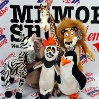 Wholesale Madagascar Set - Wholesale- 6PCS SET 25cm Madagascar Lion &penguin&giraffe Stufed Plush Toys Doll