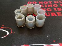 tek kullanımlık damla ucu toptan satış-Yumuşak Silikon Testi Caps Geniş Delik Tek Kullanımlık Damla İpucu Kapak Kauçuk Gri Geniş Delik Atomizer RDA RDTA Vape Buharı Için Ağızlık Test Cihazı