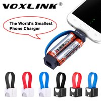 Wholesale Mini Usb Phone Charger Cable - VOXLINK Mini Portable Micro USB Charger Cable Smallest Emergency 2 AA Battery Power Charger for Samsung HTC Huawei Android Phone