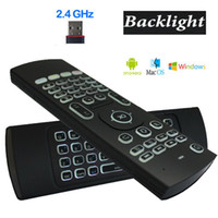 Wholesale Ir Backlight - X8 Backlight MX3 Mini Keyboard With IR Learning Qwerty 2.4G Wireless Remote Control 6Axis Fly Air Mouse Backlit Gampad For Android TV Box i8
