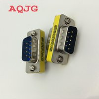 Wholesale 232 adapter resale online - Pin RS DB9 Male to Male Serial Cable Gender Changer Coupler Adapter Hot WorldwidePromotion AQJG