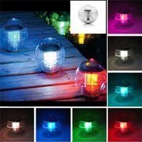ingrosso arredamento piscina-Solar Power LED Cambiare colore Globe Night Light Lampada da giardino Decor impermeabile piscina galleggiante Party Decor