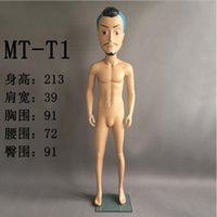 Wholesale Display Mannequin Dolls - freeshipping! New 3 colour Big head doll fashion personality men model Mannequin props, clothing store window display model 1PC B499