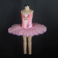 güzel bale toptan satış-En Çok Satan Marka Yeni Çocuk ve Yetişkin Güzel Pembe Klasik Bale Dans Tutu Sert Tül Tutu Balerin Elbise