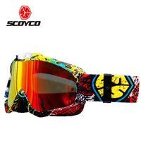 Wholesale Ski Helmet Glasses - Wholesale- SCOYCO G04 Men's Women's Skiing Eyewear Motorcycle Motocross Racing Helmet Goggles Windproof Anti-fog Protective Glasses