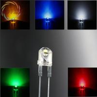 8mm chapeau en paille blanc achat en gros de-Vente en gros - 8mm 0.5W chapeau de paille haute puissance LED 50x 5 couleurs rouge + vert + jaune + blanc + bleu Diodes électroluminescentes F8MM Urtal Bright Led Lampe