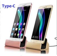 Wholesale Asus Usb Sync - USB Type C Sync & Charge Dock Charger Charging Cradle For ASUS Zenfone 3 ZE552KL ZE520KL Xiaomi Mi Note 2 Mi
