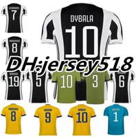 Wholesale Soccer Jersey Goalkeeper - Thai quality 17 18 Italy Club Soccer jersey 2017 2018 Buffon MARCHISIO DYBALA HIGUAIN DANI ALVES MANDZUKIC Goalkeeper Serie A Football shirt