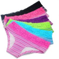 Wholesale New Lace Panties - New Hot Cotton with Lace Side best quality Underwear Women sexy panties Casual Intimates female Briefs boxers Cute Lingerie