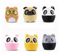 Wholesale portable mini speakers for laptop - 1pc Mini Cartoon Speaker Wireless Bluetooth Rechargeable Portable Audio Speaker Hand-free Call Self-Timer BM6 for Laptop Smartphone PC