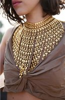 Wholesale Big Chunky Beads - Big Fashion Women 2016 Necklace Pendant Chunky Collier Femme Nigerian Wedding African Choker Beads Tassel Boho Maxi Jewelry