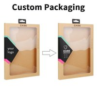 Wholesale Packaging Box Tablet - wholesale OEM customize Kraft paper retail package box for pad 2 3 4 5 mini air 2 Tablet Cover Cases packaging boxes