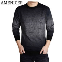 Wholesale Ropa Animal Print - Wholesale- Spring Autumn 2017 Men Fashion Knitting Sweater Slim Fit O-Neck Printing Clothing Men Swaters And Pullovers Ropa Casual Hombre