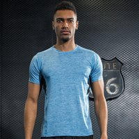 Wholesale Fitness Professional Shirts - New Men Professional Yoga Shirt Fitness Running Sports T Shirt Gym Quick Dry Sweat Breathable Bodybuilding Gym Short Sleeve Tops