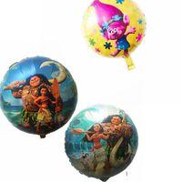 Wholesale Balloons Metallic 18 - Trolls Moana Balloons 18 Inch Cartoon Helium Foil Balloon Metallic Ballons Wedding Party Decoration Air Balls Baby Shower OOA2302