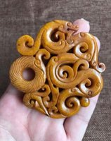 Wholesale Old Car Pendants - New natural beautiful Jewelry Chinese Exquisite Chinese old jade hand-carved Buddha statue Ancient Chinese natural jade car Necklace pendant