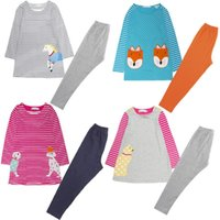 Wholesale summer cotton dress leggings resale online - 2017 Cotton Children s Dress Trousers Sets Baby Girls Blouses Leggings Sweatshirts Pant Suits Girl Clothes Embroidery Top