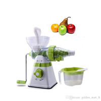 Wholesale Cream Extractor - 12PCS lot Household Manual Juicer fruit Vegetables wheatgrass Juice Machine Mullti-function Juice Extractor Ice Cream Maker
