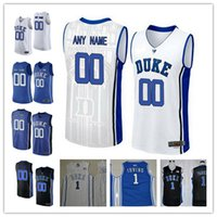 Wholesale Royal Colleges - Mens Duke Blue Devils College Basketball Custom #1 3 4 14 32 White Black Royal Blue Stitched Personalized Any Name Number Jerseys S-3XL