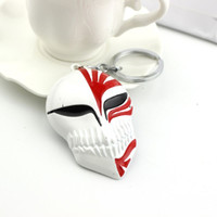 Wholesale Gods China - China Factory Direct Selling Bleach God of Death Full Mask Key Chain Anime Keychain For Keys Free Shipping 20PCS