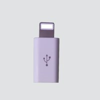 Wholesale Sync Plated - High quality pocket friendly size autocatalytic plating ABS micro USB to Lighting Converter fast data sync Transferring Charger Adapter