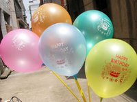 Wholesale Latex Balloons Letters - 10-inch Colorful Latex Balloons Inflatable Round Air Ball Wedding Happy Birthday Party Balloons Decoration toy balloon