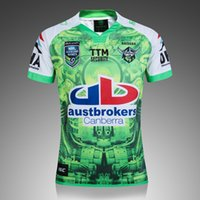 Wholesale Raiders Shirt L - New Zealand RAIDER NRL Men Rugby Jersey Super Rugby 2017 Oakland home rugby shirt S-3XL