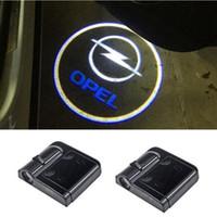 Wholesale Opel Astra H - Ghost Shadow Light Welcome Laser Projector Lights LED Car Logo For Opel astra h j g insignia mokka zafira corsa vectra c antara