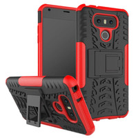 ingrosso casse di chiusura alcatel-Per LG G6 Stylo 3 LV3 MOTO G5 PLUS ALCATEL PIXI 4 5.0 PIXI 4 6.0 Dazzle Heavy Duty Robusto Dual Layer Impact Armor KickStand CASE COVER 160P