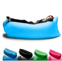 Wholesale Double Bedding Bag - Fast Inflatable Camping Sofa banana Sleeping Lazy Chair Bag Nylon Hangout Air Beach Bed chair CouchFast Inflatable Air Sleeping Bag Hangout