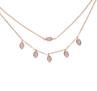 Wholesale Solitaire Marquise Diamond - 2017 fashion jewelry multi layer double layer with marquise cz charm choker women wedding gift cubic zirconia diamond necklace