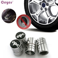 Wholesale Opc Drum Wholesale - Car Wheel Tire Valves Tyre Stem Air Caps Cover for OPC Opel drum kyocera Emblems Badge Car Tire Accessories Styling 4pcs lot