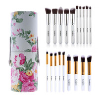 Wholesale Eye Cups Wholesale - Lowest price 10Pcs Women Makeup Brush Set Cosmetic Eye Eyebrow Shadow Eyelashes Blush Kit + Brush Cup Blending Cosmetics Tools