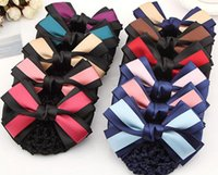 Wholesale Piece Jobs - Free shipping Hot job of the first flower bow tie hair hair network FJ199 mix order 60 pieces a lot