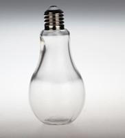 ingrosso illuminazione delle bottiglie di vetro-Creativo Lampadina Forma Tè Succo di frutta Bottiglia di bevande Multi funzione Tazza di fiori Vaso di vetro Home Office Desk Decorazione 1 15xc J R