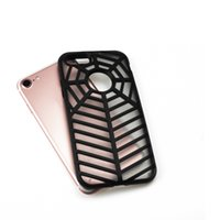 Wholesale hard back case packaging for sale - New Round Bending Spider Case For Iphone I7 Plus Rugged Hybrid Hard Shockproof Waterproof Back Cover With Retail Package pc