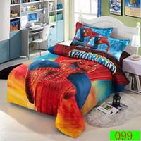 Wholesale Spiderman Duvet Covers - Home Spiderman 3d cartoon children bedding set bedroom bedclothes sets 3pcs twin single duvet cover flat bed sheet pillow case bed linen set