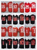 Wholesale new style baseball jerseys - New Style College 15 Ezekiel Elliott Jerseyb 25 Mike Weber 97 Joey Bosa 16 J.T. Barrett 12 Cardale Jones 1 Braxton Miller Jerseys