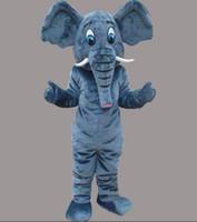 vestuário de transporte direto venda por atacado-Venda direta da fábrica de Alta qualidade EVA Material Helmet drop shipping O traje da mascote do elefante Dos Desenhos Animados traje da boneca roupa