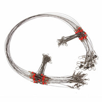 Wholesale Wire Leader Tools - Wholesale- Wire Trace Leader Rig 2 Arm Fishing Lure Bait Swivel Rings Fishing Connector Stainless Steel Fishing Tackle Box Accessory Tool