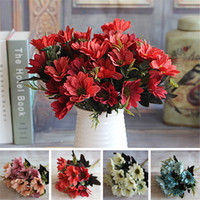 Wholesale 2016 Hot Sale French Rose Floral Bouquet Artificial Peony Flower Arrange Table Wedding Home Decor Party Flores Artificiales From Dropshipping