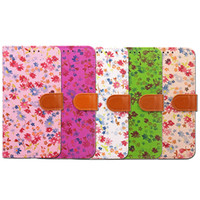 Wholesale Iphone Flip Strap Cover - Flip Leather Case For Samsung S8 Plus iPhone 7 Plus 7Plus Soft TPU+PU Card Slot Wallet Cases + Hand Strap Flower Pattern Printing Cover