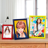 Wholesale photo frame table - Rainbow Colorful Photo Frame Of PVC Material Manual Cross Stitch Picture Frames Table Cabinet Decor Gift Hot Sale 1 85yj F R
