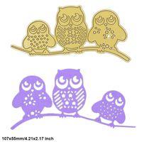 Wholesale Craft Owls - Tree Owls DIY Metal Cutting Dies Stencil Scrapbook Card Album Paper Embossing Crafts