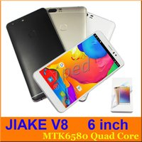 "Wholesale Cheap Phablet Phones - P9 Plus style JIAKE V8 6"" MTK6580 512 4GB Android 5.1 960*540 Dual SIM 3G Unlocked Smart phone Phablet Mobile smart wake + case cheap 20pcs"