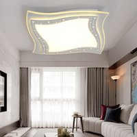CE square d switch - New Arrival Square LED Chandelier Light Modern Ceiling for Living room Bedroom LED Lamparas d Living room Bedroom Kitchen LED Luminarie Lamp