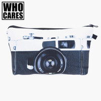 Wholesale Make Camera Bag - Wholesale- Camera Scenery 3D Printing Necessaire Women Cosmetics Bags Travel Make up Bag Fashion Organizer Maleta de Maquiagem Makeup Bag