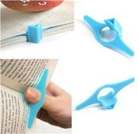 Moda Multifuncional Thumb Plastic Praticante leitura Helper Book Página Holder Finger Bookmark