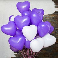 Wholesale Balloon Heart Latex Wedding - 12 Inches 2.2g Red Love Heart Latex Balloons Wedding Decoration Valentines Day Birthday Party Balloons Factory Wholesale